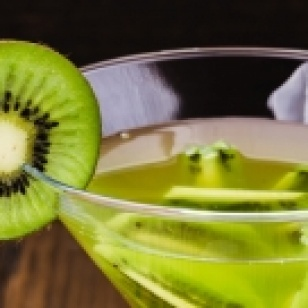 Cocktail con kiwi e spumante